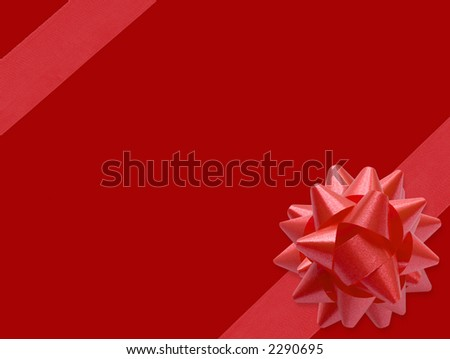 Festive Ribbon (with clipping path for easy background removing if needed) - stock photo