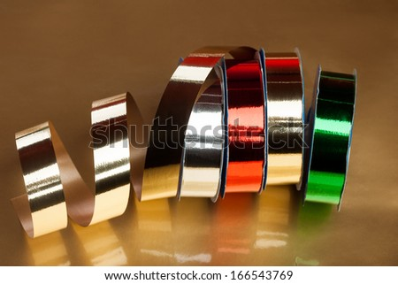 festive ribbons on a reel