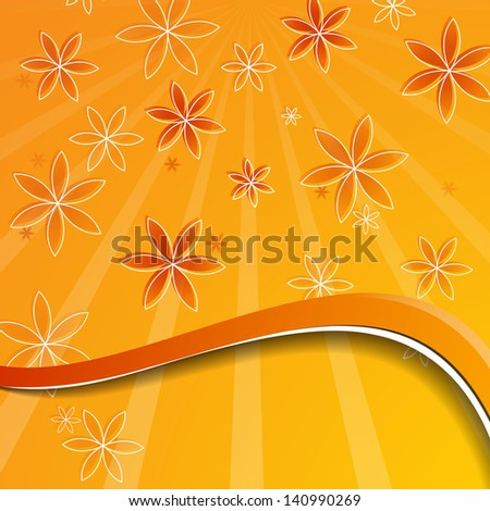Festive summer card. Background with hand drawing flower. For vector version, see my portfolio.