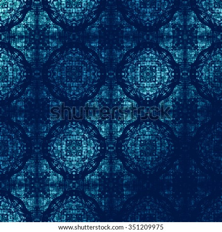 Festive Winter background, metallic foil. Dark blue oriental pattern with traditional elements. Royal damask texture for textile, wallpapers, advertisement, page fill, book covers etc.