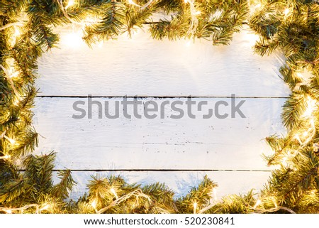 Festive wooden light background for Christmas or new year