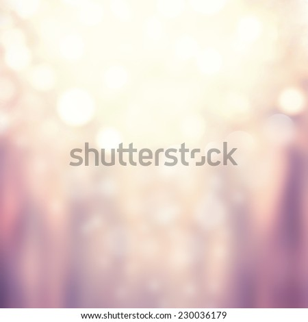 Festive xmas abstract background with bokeh defocused lights and stars. Boke twinkling Lights Festive holiday party background with blurry special magic effect.  - stock photo