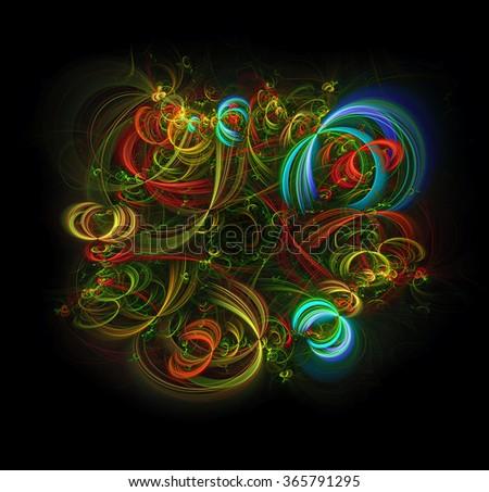 Festivities abstract illustration - stock photo