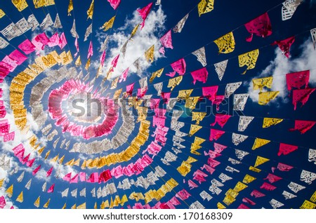 Festons in mexico. - stock photo