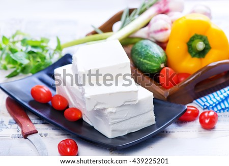 feta and vegetables