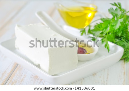 feta cheese - stock photo
