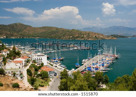 Fethiye Harbour, Turkey - stock photo