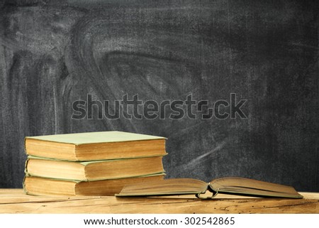 few books on top and space for text