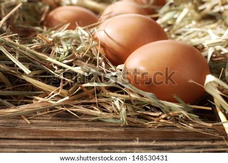 few eggs  - stock photo