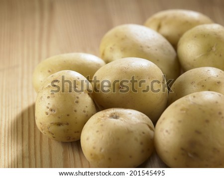 few potatoes on the kitchen top