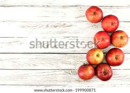 few red apples  - stock photo