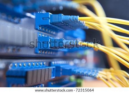 fiber Network Server - stock photo
