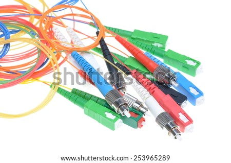 Fiber optic cables and connectors used in telecommunication and it networks