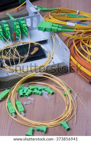 Fiber optic device ready for packet data  transmission
