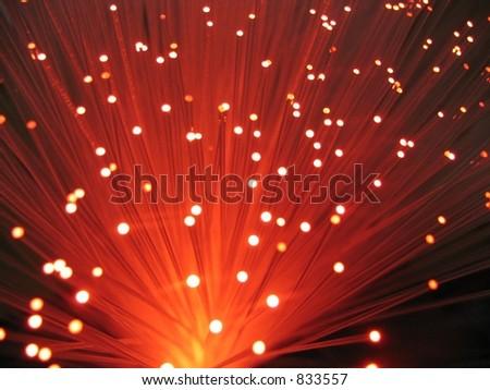 fiber optic lamp - stock photo