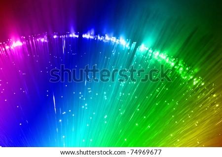 Fiber optics background - stock photo