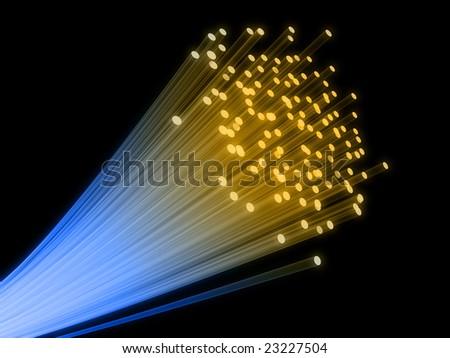 fiber wire - stock photo