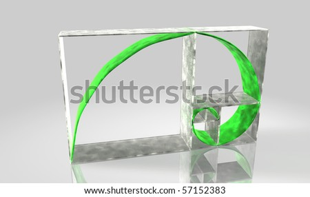 Fibonacci sequence - stock photo