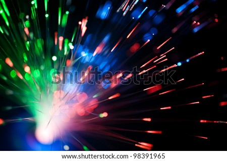Fibre optic - stock photo