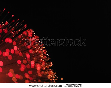 Fibre Optic cable red - stock photo