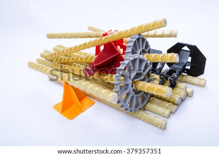 fibre plastic reinforced rebar fittings - stock photo