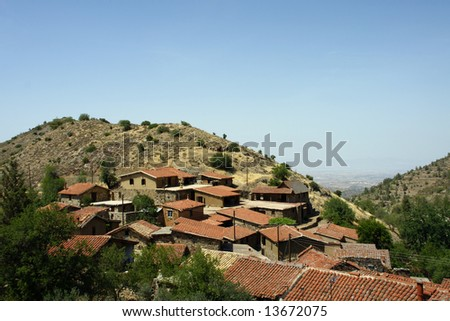 Ficardou village near Nicosia - Cyprus - stock photo
