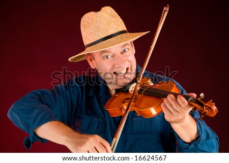 Fiddle Player - stock photo