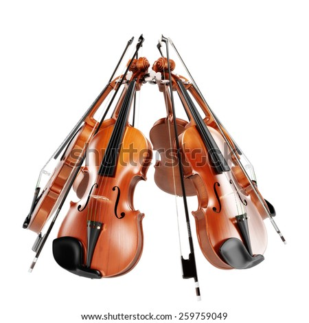 fiddles - stock photo