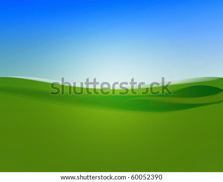 field and sky background illustration