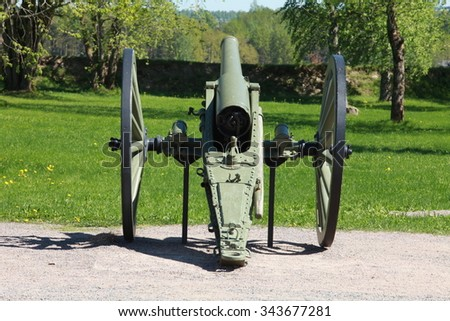 field cannon rear view