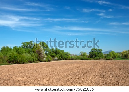 field for tillage - stock photo