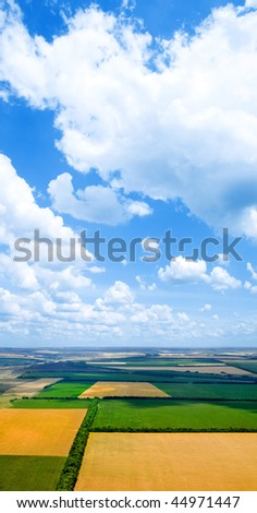 Field from above. - stock photo