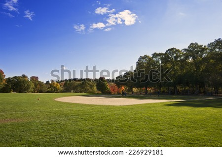 Field in Laz park, Boston - stock photo