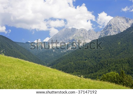 Field in the Bavarian Alps, Germany