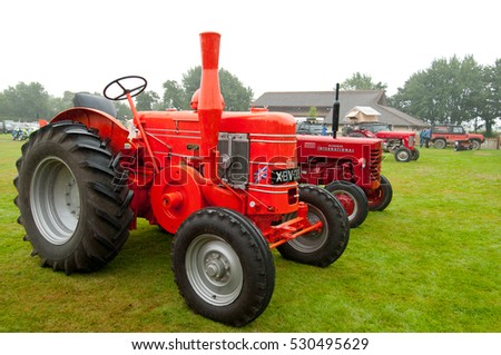 Field Marshal classic diesel tractor. Taken at Uplowman Show 2016, Devon, United Kingdom. Editorial image.