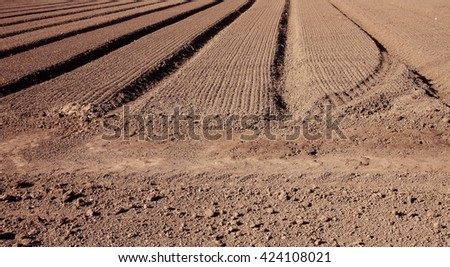 field of plowed land
