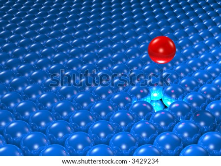 Field of spheres - stock photo