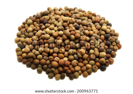 Field peas on a white background - stock photo