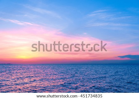 Fiery Backdrop Magnificent View  - stock photo