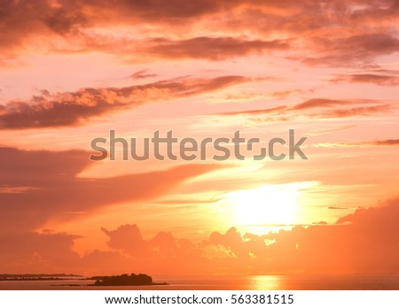 Fiery Backdrop Sunset Paradise