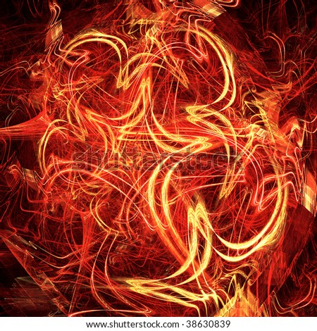 Fiery celebratory background from bright dynamic fractal