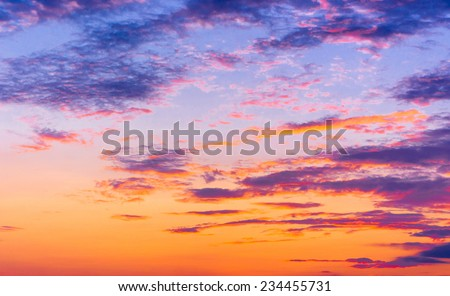 Fiery Heaven Setting Sun  - stock photo