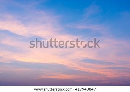 Fiery orange sunrise sky. Beautiful sky. - stock photo