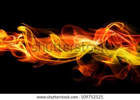 Fiery smoke background - stock photo