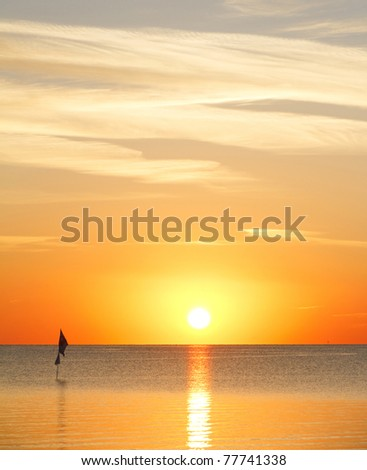 Fiery Start of the Day - stock photo