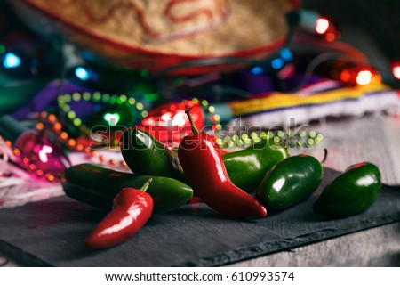 stock photo: chile peppers