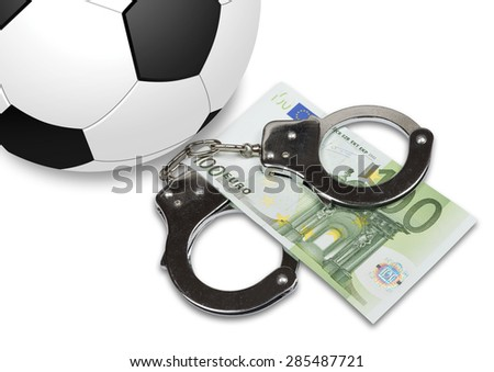 FIFA corruption scandal in the granting of rights to host the FIFA World Cup. Six FIFA activists were arrested. - stock photo