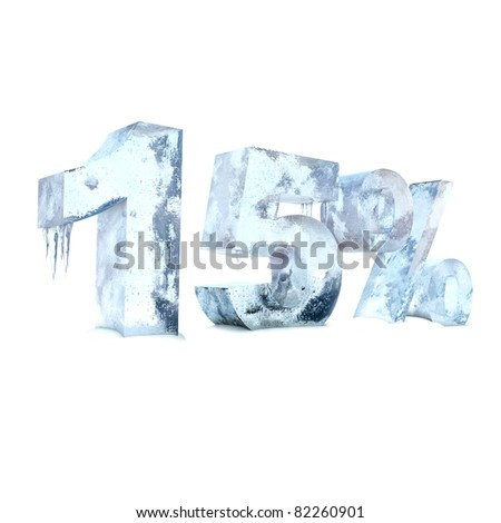 fifteen percent of the ice - stock photo