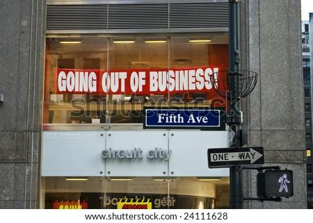 New York NY January 29th 2009 The Circuit City Store
