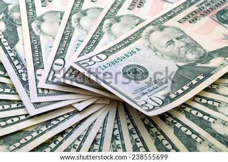 Fifty-dollar banknotes